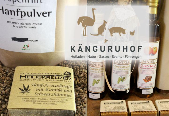 Heiligkreuzer Seifen im Hofladen des Känguruhofs in Bernhardzell SG.