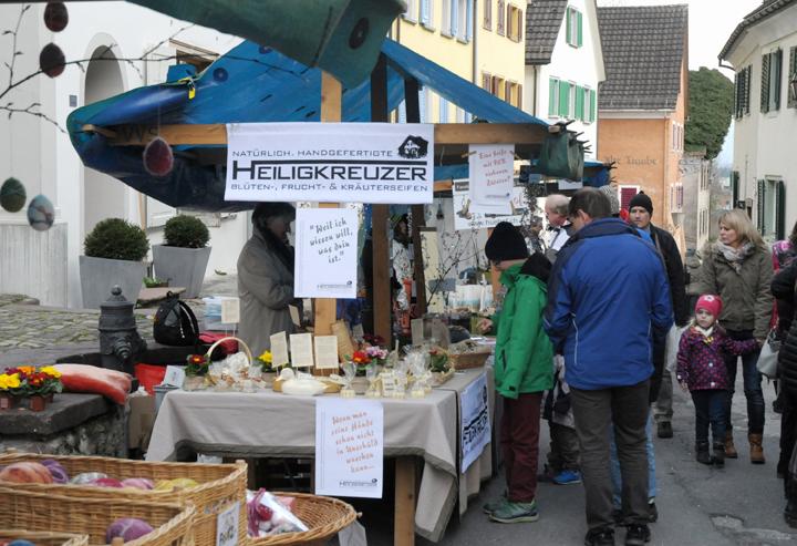 Heiligkreuzer Seifen am Ostermarkt 2016 in Sargans.