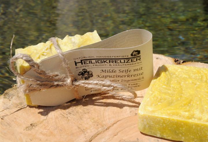 Neu im Shop: Kapuzinerkresse-Seife mit Appenzeller Ziegenmilch.