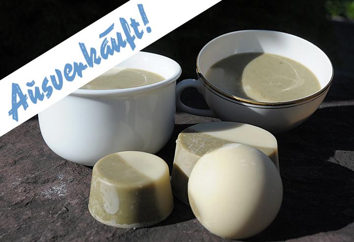 Für eine tatsächlich natürliche Rasur: Handgerührte vegane Bio-Rasierseife mit Melisse und Rügener Heilkreide. Als Seifenstück in drei Varianten.