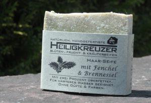 Zitronensäure wirkt in dieser Shampooseife als natürlicher Wasserenthärter.