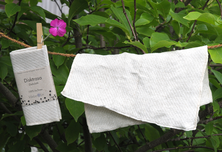 Zum Geschirrspülen und Putzen mit Seife: Spül- und Putztuch aus Leinen.