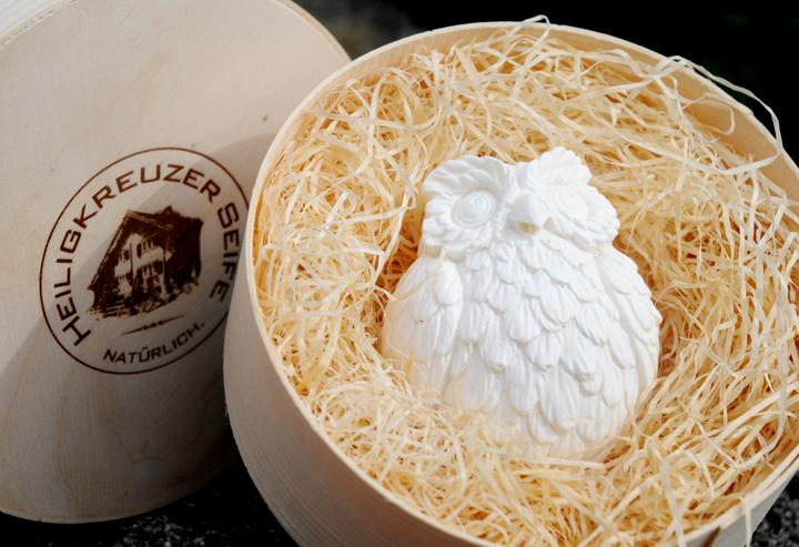 Edle Mohnseife mit Ziegenmilch & Bio-Kokosöl. Einzelstück #20.