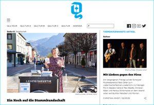"""Bericht im Online-Magazin """"Qultur.ch""""."""
