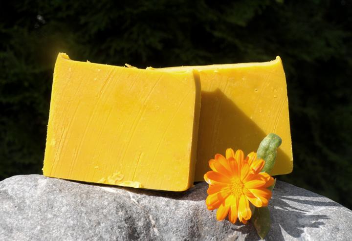 Ringelblumenseife: Mit natürlichem Orangenduft.