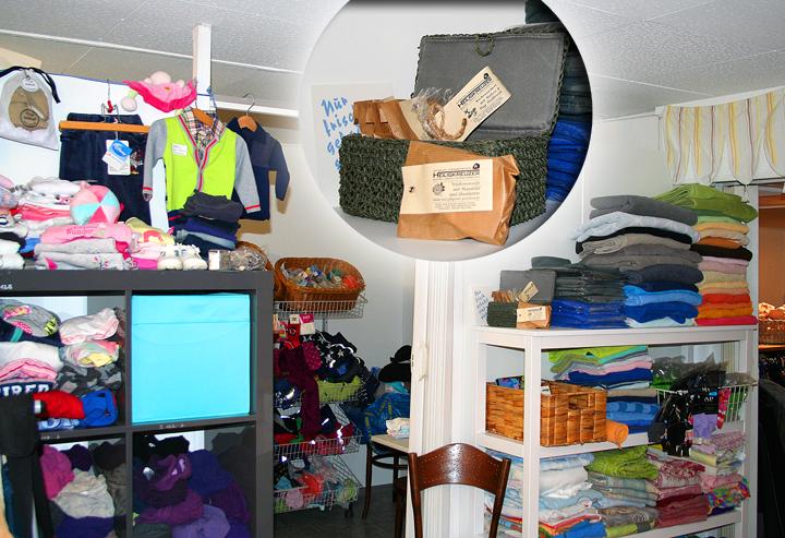 """Hilfe für Menschen in finanzieller Not: Der Laden des Vereins """"O-A-S-E"""" in Rheineck SG."""
