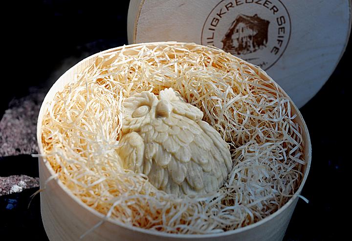 Baumnuss-Seife mit Schafmilch. Einzelstück #99.